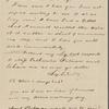 Peabody, Elizabeth P[almer, sister], ALS to. Nov. 7, 1822.
