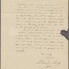 Alcott, A[mos] Bronson, ALS, to SAPH. Aug. 27, 1836.