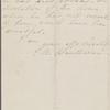 Hawthorne, E[lizabeth] M[anning], ALS to SAPH. Nov. 24, [n.y.]