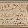 Doyle, Peter, APCS to. Mar. 26, [1875].