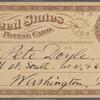 Doyle, Peter, APCS to. May 8, [1874].