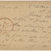 Doyle, Peter, APCS to. Jun. 10, [1874].