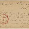Doyle, Peter, APCS to. Jul. 3, [1874].