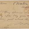 Doyle, Peter, APCS to. Sep. 18, [1874/75].