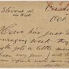 Doyle, Peter, APCS to. Oct. 2, [1875].
