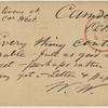 Doyle, Peter, APCS to. Oct. 28, [1874/75].