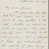 O'Connor, Ellen M., ALS to. Sep. 21, 1867.