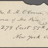 O'Connor, Ellen M., ALS to. Feb. 24, 1868.