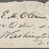 O'Connor, Ellen M., ALS to. Jun. 10, 1874.