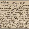 O'Connor, Ellen M., APCS to. Aug. 27, 1889.