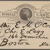 O'Connor, Ellen M., APCS to. Sep. 29, 1889.