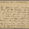 O'Connor, Ellen M., APCS to. May 6-7, [1874].