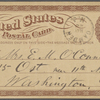 O'Connor, Ellen M., APCS to. May 29, [1874].