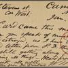 O'Connor, Ellen M., APCS to. Jan. 11, [1875].