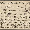 O'Connor, Ellen M., APCS to. Mar. 23, [1876].