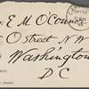 O'Connor, Ellen M., ALS to. Dec. 18, 1889.