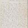 O'Connor, William D., ALS to. Jan. 6, 1865.
