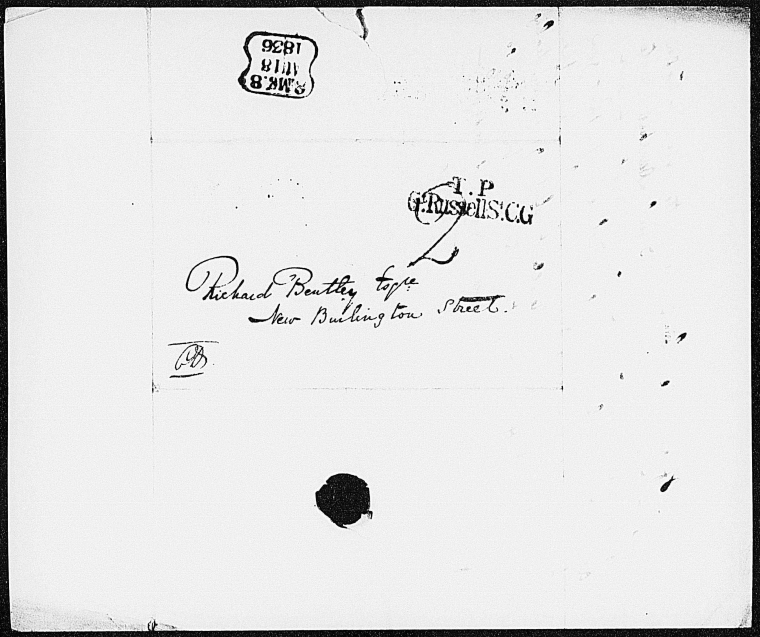 This is What Charles Dickens and Bentley Richard. ALS to [1836 Aug. 17] Looked Like  on 8/17/1836