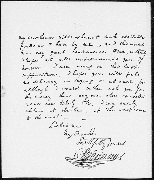 This is What Charles Dickens and Bentley Richard. ALS to 1837 Feb. 28 Looked Like  on 2/28/1837