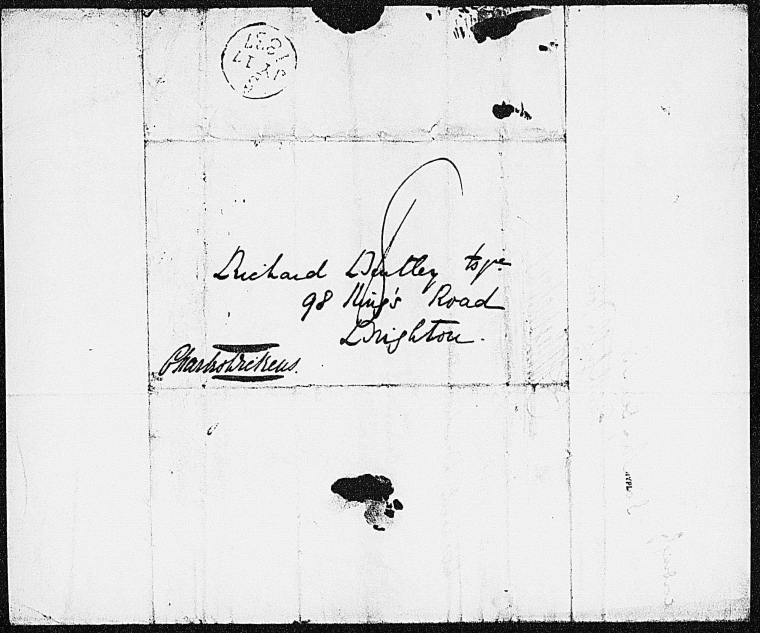 This is What Charles Dickens and Bentley Richard. ALS to 1837 July 14 Looked Like  on 7/14/1837