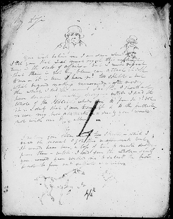 This is What Charles Dickens and Cruikshank George. ALS to [1836] Looked Like  in 1836