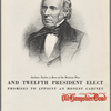 Zachary Taylor, a hero of the Mexican War and twelfth president elect promises to appoint an honest cabinet.