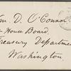 O'Connor, William D., ALS to. Apr. 7, 1865.