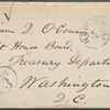 O'Connor, William D., ALS to. Sep. 15, 1867.