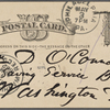 O'Connor, William D., APCS to. [May 3, 1882], second card.