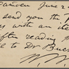 O'Connor, William D., APCS to. Jun. 22, [1882].