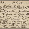 O'Connor, William D., APCS to. Jul. 19, [1882].
