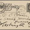 O'Connor, William D., APCS to. Aug. 29, [1883].