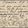 O'Connor, William D., APCS to. Sep. 17, [1883].