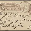 O'Connor, William D., APCS to. [Aug. 24, 1886].