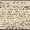 O'Connor, William D., APCS to. Oct. 28, 1887.