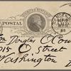 O'Connor, William D., APCS to. Sep. 19, 1888.