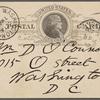 O'Connor, William D., APCS to. Oct. 3, 1888.