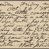 O'Connor, William D., APCS to. Oct. 26, 1888.