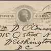 O'Connor, William D., APCS to. Feb. 10, 1889.