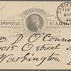 O'Connor, William D., APCS to. Feb. 15, 1889.