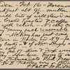 O'Connor, William D., APCS to. Feb. 16-17, [1889].
