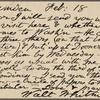 O'Connor, William D., APCS to. Feb. 18, 1889.