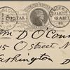 O'Connor, William D., APCS to. Feb. 26, 1889.