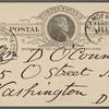 O'Connor, William D., APCS to. Feb. 27, 1889.