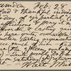 O'Connor, William D., APCS to. Feb. 28, 1889.