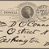 O'Connor, William D., APCS to. Mar. 5, 1889.