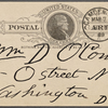 O'Connor, William D., APCS to. Mar. 7, 1889.
