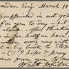 O'Connor, William D., APCS to. Mar. 11, 1889.