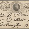 O'Connor, William D., APCS to. Mar. 12, 1889.