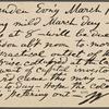 O'Connor, William D., APCS to. Mar. 18, 1889.